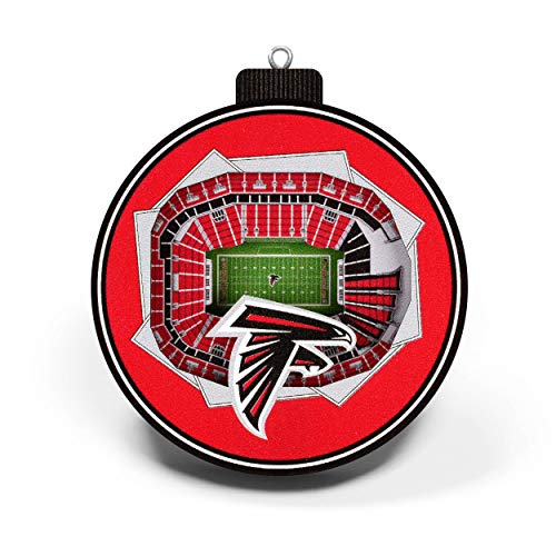 NFL Atlanta Falcons - Mercedes-Benz Stadium 3D StadiumView Ornament3D StadiumView Ornament, Team Colors, Large (Atlanta Falcons Ornaments Christmas)