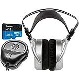 Hifiman HE400S Over Ear Full-Size Planar Magnetic Headphones with Lexar 64GB MicroSDXC Memory Card + Slappa HardBody PRO Full-Size Headphone Case Bundle