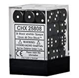 Black with White Dice Block, 12mm D6