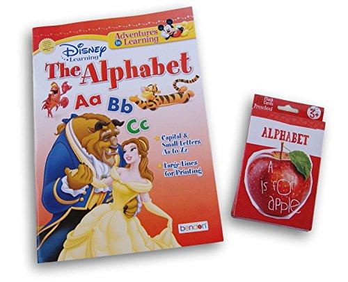 Disney Princess Alphabet - Bendon Disney Princess Characters Alphabet Workbook and 36 Alphabet Flash Cards