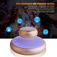 Levitation Speaker UPPEL Wireless Floating Bluetooth Speaker With Lights Music Dancing Support Touch-sensitive Keys, Wireless Charger, TF Card Mode, Hands Free, Music Player for Bluetooth device(Gold)
