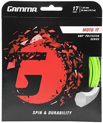Gamma Sports Moto 17g Tennis String Set, 40', - Gamma Tennis String