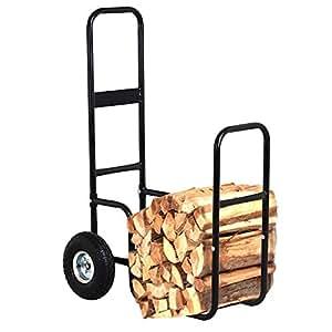 go2buy Heavy Duty pneumatic-wheel para leña carro carrito transportador carretilla
