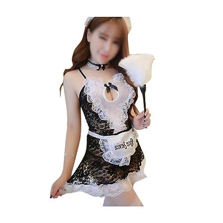 FELICIOO Ropa Interior Sexy Maid Outfit Temptation Traje de ...