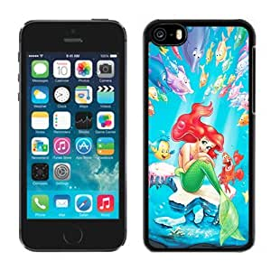 Lovely ipod touch 5 ipod touch 5 Case Design with The Little Mermaid Black Phone Case for ipod touch 5 ipod touch 5 Generation