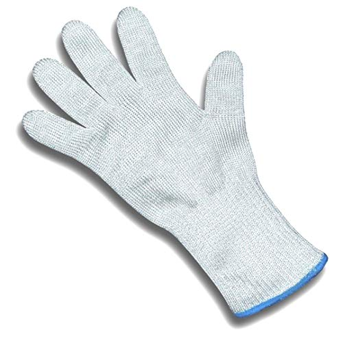 ChefsGrade Cut Resistant Safety Glove - Protection From Knives, Mandoline and Graters - Soft Flexible with Stainless Steel Wire - One Glove - Fiberglass Steel Knife