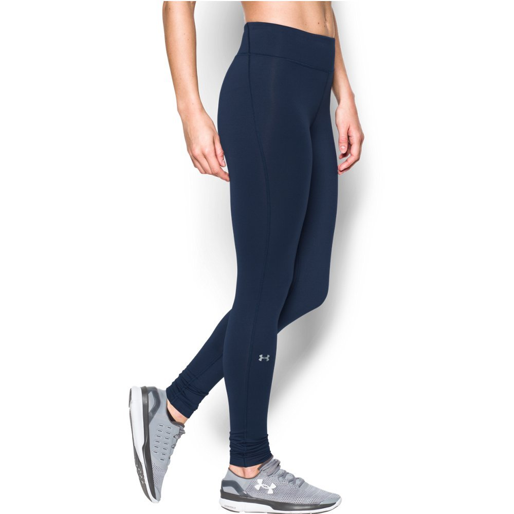 Under Armour Women's ColdGear Authentic Compression Leggings,  Midnight Navy - Medium by Under Armour