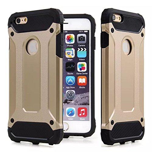 Rüstung Stoßfest Hülle/Case für Apple iPhone 5 / 5s / SE / Absorberabdeckung & Displayschutzfolie / EJC Avenue / Gold