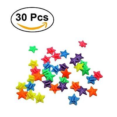 WINOMO 36 PCS Star Bike Bicycle Wheel Spoke Beads Luminous Plastic Clip Spoke Bead Bicycle Beads Wire Beads Decorations