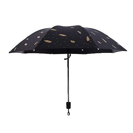 f28dd0633e5d Amazon.com : Tcplyn 1 Pcs Travel Umbrella Creative Grid Feather ...
