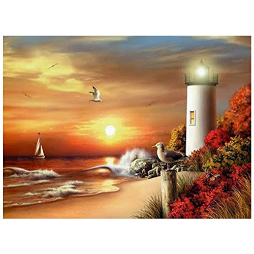 ZOOYA DIY Diamond Painting Lighthouse Resin Pasted Cross Stitch for Home Decoration A164