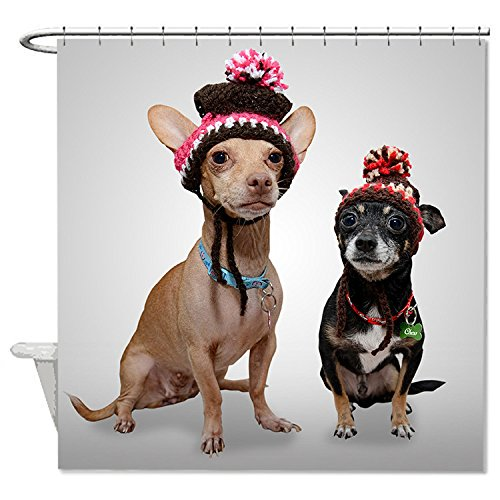 Party City Costumes 60 Off (HANHAOKI Christmas Chihuahua Funny Dog Waterproof Mildew-free Shower Curtain Bath Shower Curtain liner 60