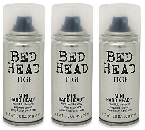 Hard Hold Hair Spray - TIGI Bed Head Mini Hard Head Spray, 3 oz (Pack of 3)