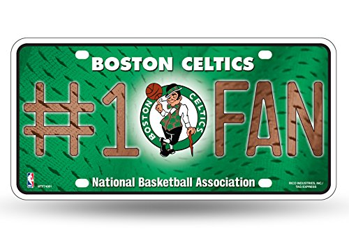 (NBA Boston Celtics #1 Fan Metal License Plate Tag )