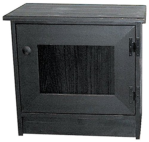 Beadboard Desk (Sawdust City End Table Cabinet - Shown in Old Black with beadboard door)