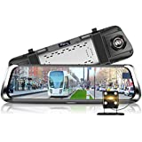 Dash Cam, WinnerEco Phisung E08 10in IPS Touch Screen Bluetooth WiFi 4G Android Car DVR Camera with G-Sensor, WDR, Loop Recording