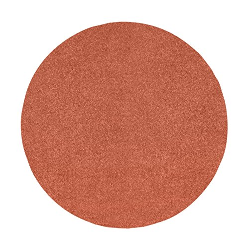 4' Rust Rug Round Area (Ambiant Pet Friendly Solid Color Rust 4' Round - Area Rug)