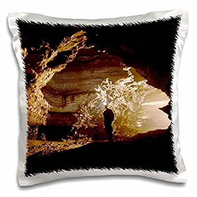Danita Delimont - Caves - Charons Cascade, Mammoth Cave, Kentucky - US18 RKL0008 - Raymond Klass - 16x16 inch Pillow Case (pc_90423_1)