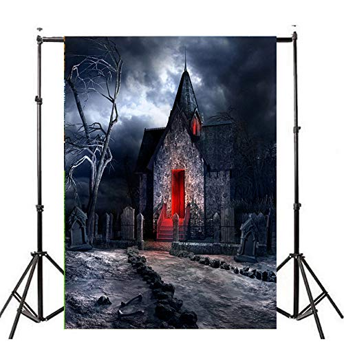 YOcheerful Halloween Backdrops Pumpkin Lantern Background Photography Studio (I,90x150cm) -