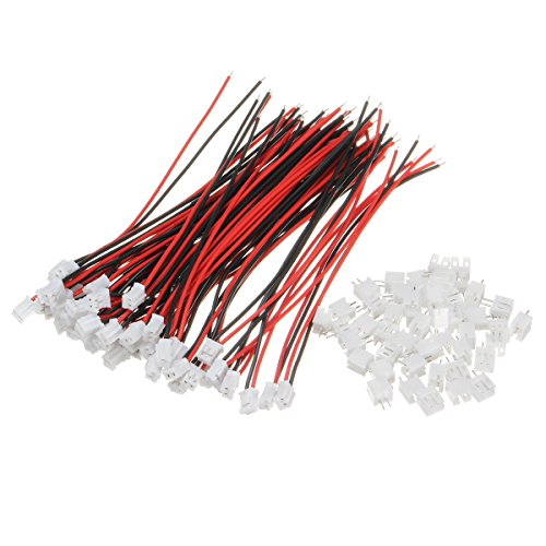 Price comparison product image Thyway 100Pcs Mini Micro JST 2.0 PH 2Pin Connector Plug With 120mm Wires Cables