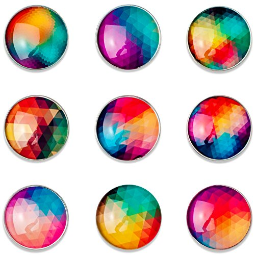 Magnetitos - Set of 9 Magnets - Retro Abstract -