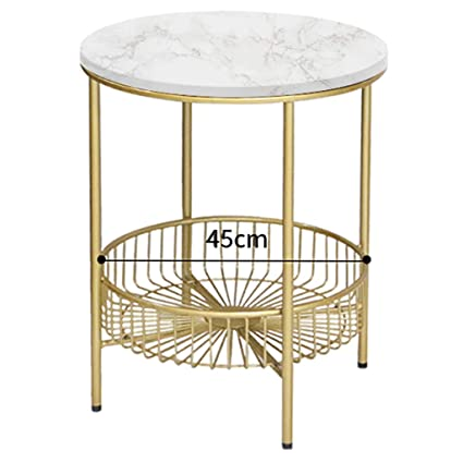 Amazoncom Round Marble Effect Coffeesidecenter Tables