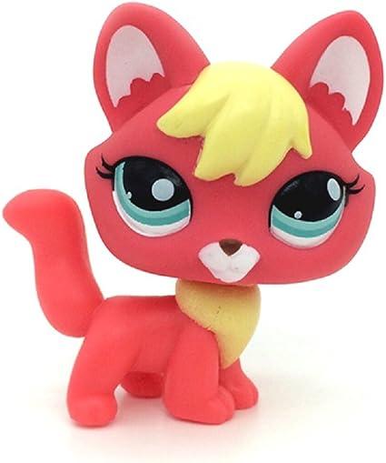 Littlest Pet Shop LPS Fox Blue Eyes Orange Cream Dog Firefox Toy #1812