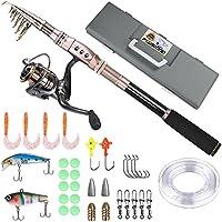 PLUSINNO Telescopic Fishing Rod Retractable Fishing Pole...