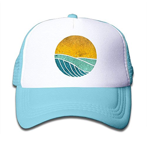NVJUI JUFOPL Vintage Sea Wave On Tides Toddler Sunscreen Trucker Cap Style Great For Kids
