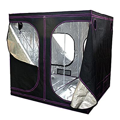 "Apollo Horticulture 77""x77""x77"" Mylar Hydroponic Grow Tent for Indoor Plant Growing"
