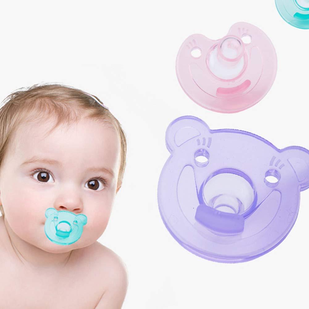 Newin Star Estilo lindo ni/ño del oso Chupete Chupete de silicona duradera la ortodoncia Mordedor cuidado del beb/é Material verde