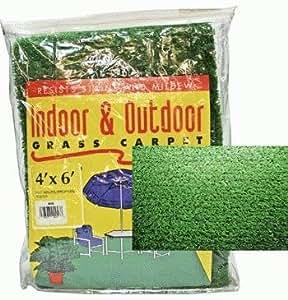 Outdoor Grass Mat for Patios, RV, Camping (4x6 Feet), Green