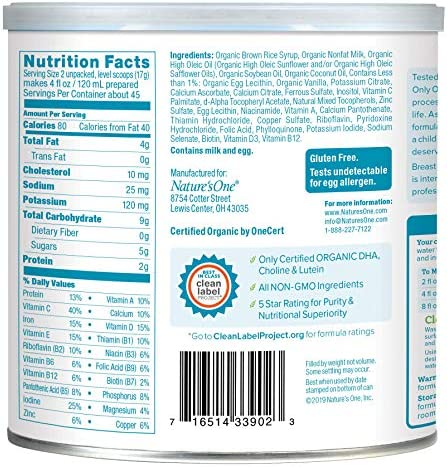 51U2Cbg%2BiSL. AC - Baby's Only Dairy With DHA Toddler Formula - Non GMO, USDA Organic, Clean Label Project Verified, Value Size (Single Can), 27.5 Oz