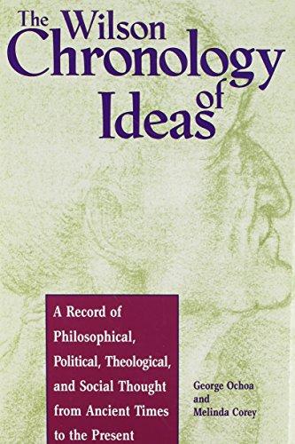 The Wilson Chronology of Ideas (Wilson Chronology Series)