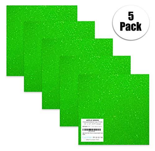 Turner Moore Edition, Apple Green Glitter Vinyl Adhesive - 12