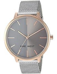 Women's NW/1981GYRT Silver-Tone Mesh Bracelet Watch