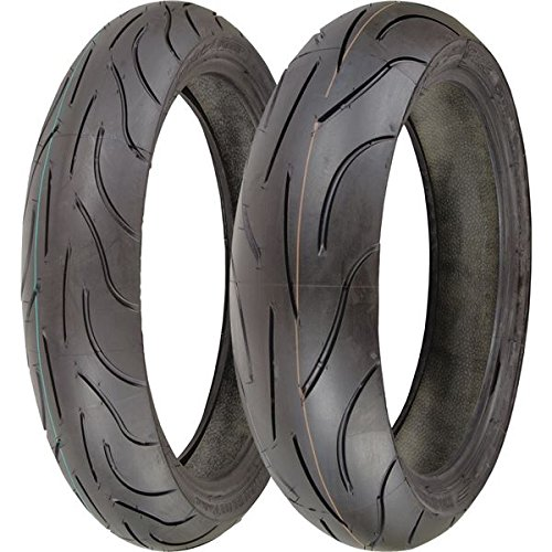 - Michelin Pilot Power 120/70zr17 & 180/55zr17 180 55 17 120 70 17 2 Tire Set