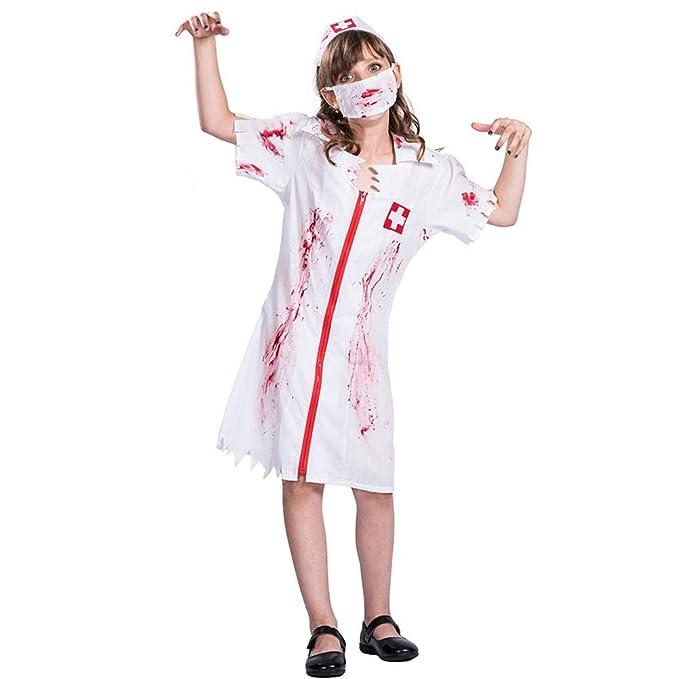 Amazon.com: Amazingdeal Kids Halloween Blood Nurse Cosplay ...