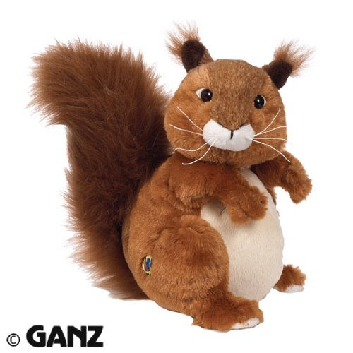 Webkinz Red Squirrel with Magnetic Bookmark