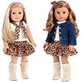 DreamWorld Collections - Adventure - 5 Piece Outfit - Jeans Jacket, Ivory Tank Top, Skirt, Scarf and Boots - Clothes Fits 18 Inch American Girl Doll (Doll Not Included)