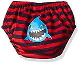 Kiko & Max Baby Boys' Absorbant Reusable Swim Diaper, Shark (Red), M