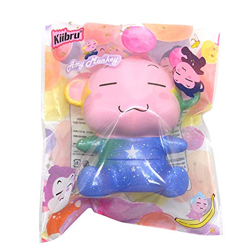 Kiibru Jumbo Squishies Monkey Slow Rising Squishy Toys Scented Rainbow