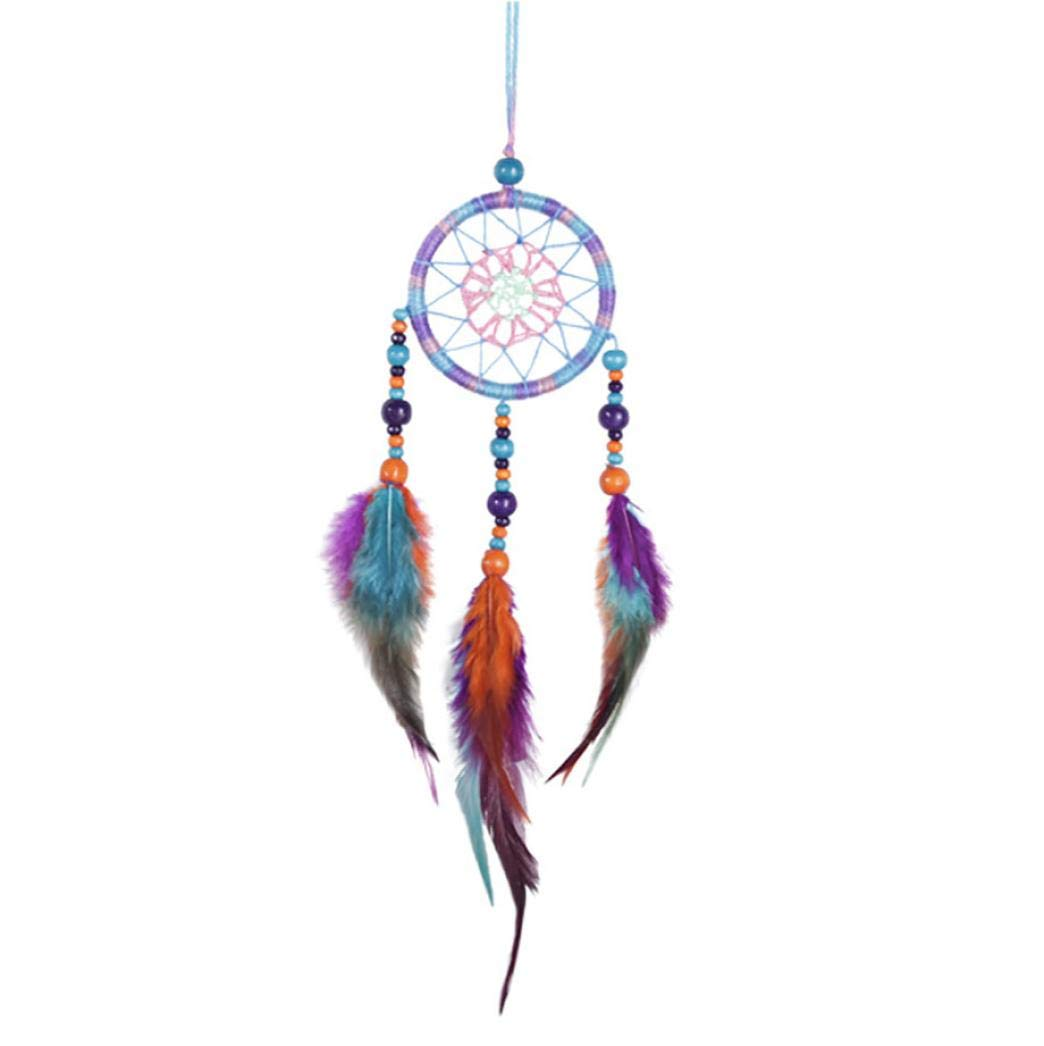 XILALU Handmade Dream Catcher, Hanging Home Wall Car Decoration Decor Ornament Craft Gift with Net Beads