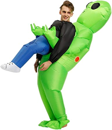 RHYTHMARTS Inflatable Costume Fancy Dress Blow up /& Costumes Halloween Cosplay Clothes for Adult