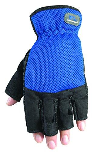 Wells Lamont 836M Sport Fingerless Work Gloves, Back, Elasticized Wrist, Medium