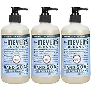 Mrs. Meyer's Clean Day Liquid Hand Soap, Bluebell, 12.5 FL OZ (370ml), 3pk