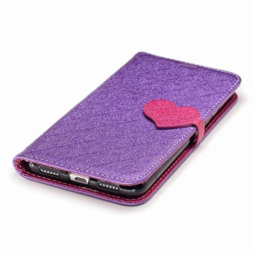 Yiizy Huawei P8 Lite (2017) / Honor 8 Lite / Nova Lite / GR3 (2017) Custodia Cover, Amare Design Sottile Flip Portafoglio PU Pelle Cuoio Copertura Shell Case Slot Schede Cavalletto Stile Libro Bumper