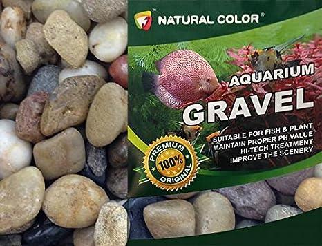 Acuario de Color Natural Stones Pebbles sustrato Grava, 1 - 2 cm, 5 kg: Amazon.es: Productos para mascotas