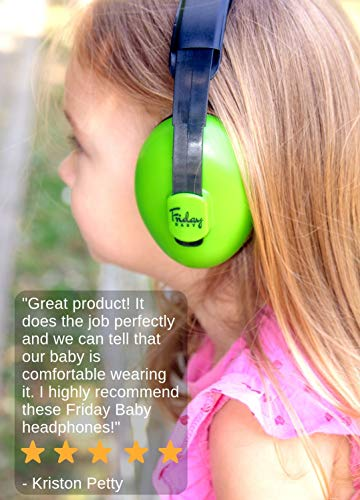 Baby Ear Protection - Comfortable and Adjustable Premium Noise Cancelling Headphones for Babies, Infants, Newborns (0-2+ Years)   Best Baby Headphones Noise Reduction for Concerts, Fireworks & Travels by Friday Baby (Image #5)