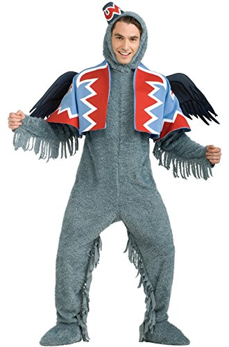 Monkey Costume Wizard Oz (Rubie's Costume Wizard Of Oz 75th Anniversary Edition, Deluxe Winged Monkey, Gray, X-Large Costume)